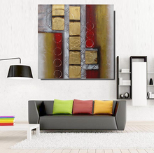 Modern Home Decoration Colorful Abstract Oil Painting For Living Room