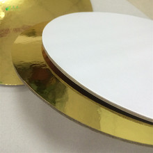 laminated cardboard gold cake board in circle