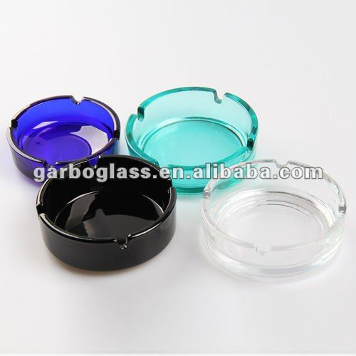 Colored Glass Ashtray, Round Ashtray in Stock