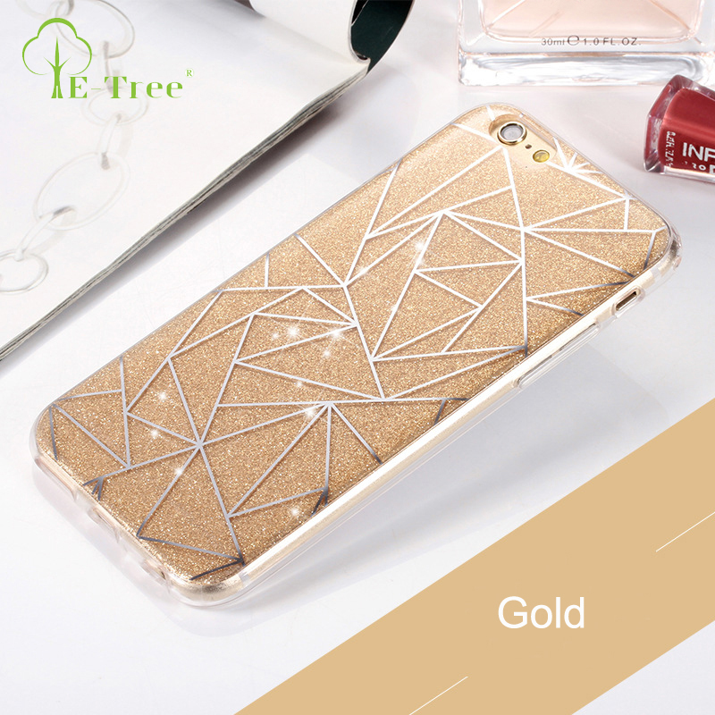 Diamond Triangle Beautiful Mobile Phone Bling Bling Cover Cases For iPhone 7 Plus TPU