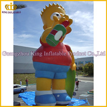 6m Height inflatable cool boy cartoon,giant inflatable model for advertising