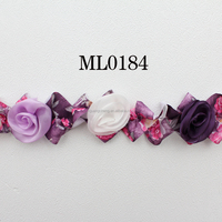 4.5CM colorful Vintage style Charming Chiffon Lace Flower For Baby Kids Girls Wholesale IN STOCK