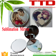 sublimation blanks business metal cards blank sublimation pocket mirror cheap metal compact mirrors