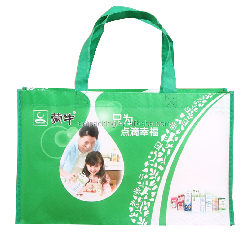 Glossy film laminated non-woven fancy shopping bag