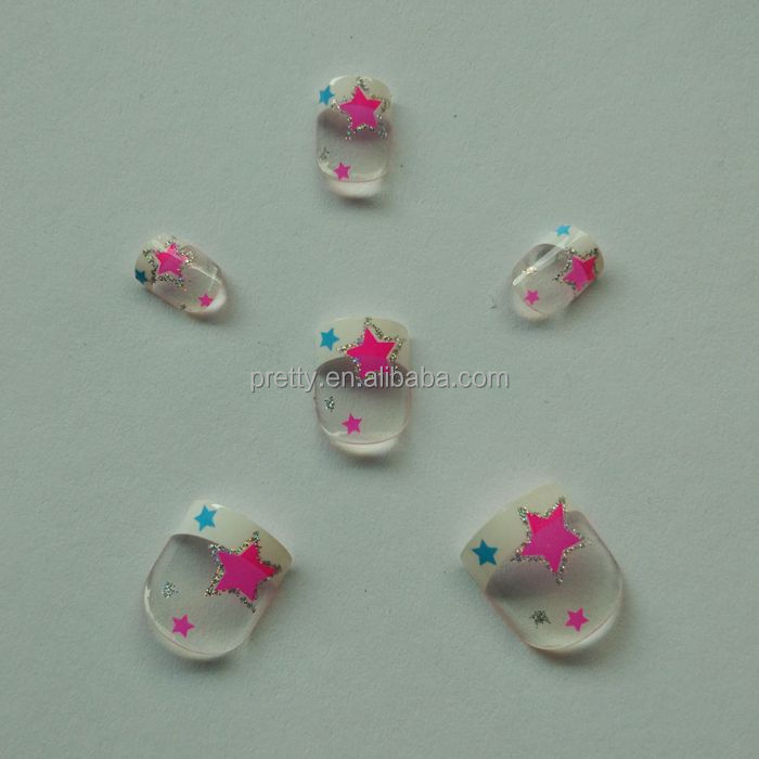 lovely design red color twinkle star nails red star picture acrylic nails for kids