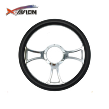 "Drifting Racing 14"" Classic Leather Half Wrapped Steering Wheel Racing"