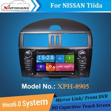 Touch screen double din car dvd gps for tiida with DSP audio,front DVR camera,cd copy,3g/wifi internet,mirror link