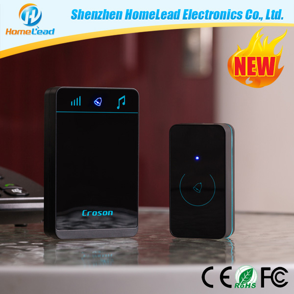 Waterproof Touch Button Wireless Hotel Doorbell Chime System with Battery powered