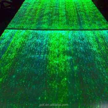 Complete set ready to install finished fiber optic fabric placemats centerpieces table runner table cloth