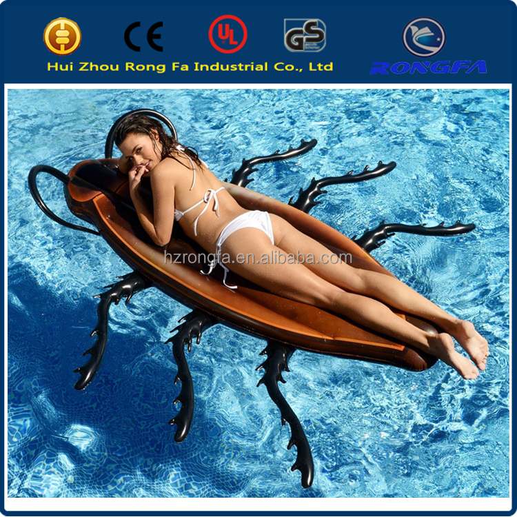 "Gigantic Cockroach Raft Pool Float 70"" Long x 69"" Wide Including Legs and 12"" Deep"