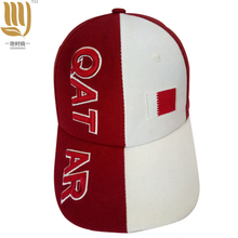 Fashion Contrast Color Caps 3D Embroidery Burgundy Hats Country flag caps hats