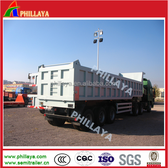 tri axles 50 Ton Coal Transport Tipping Trailer For Sale In Pakistan