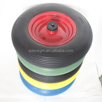 Hot Selling All Color Tubeless Solid Rubber Blow Wheel 16x4.00-8