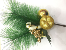 Green pine needle christmas glitter floral picks for holiday and home decor