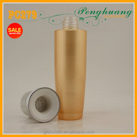4oz frosted cream bottle with silver cap and stopper