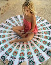 Z56966B Stock Round funky Beach Towel Floral Print cheap turkish beach towels