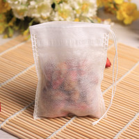 E1010 High quality breathable Empty Non-woven fabric filter tea bag with drawstring
