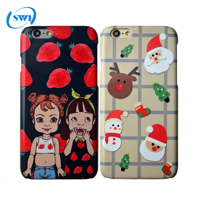3D Sublimation Hot Transfer printing hot cover custom PC plastic phone back cover case for iphone5 6s plus