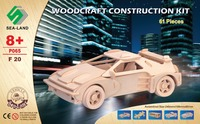 Without Color 3D Puzzle Wood Craft Construction Kit