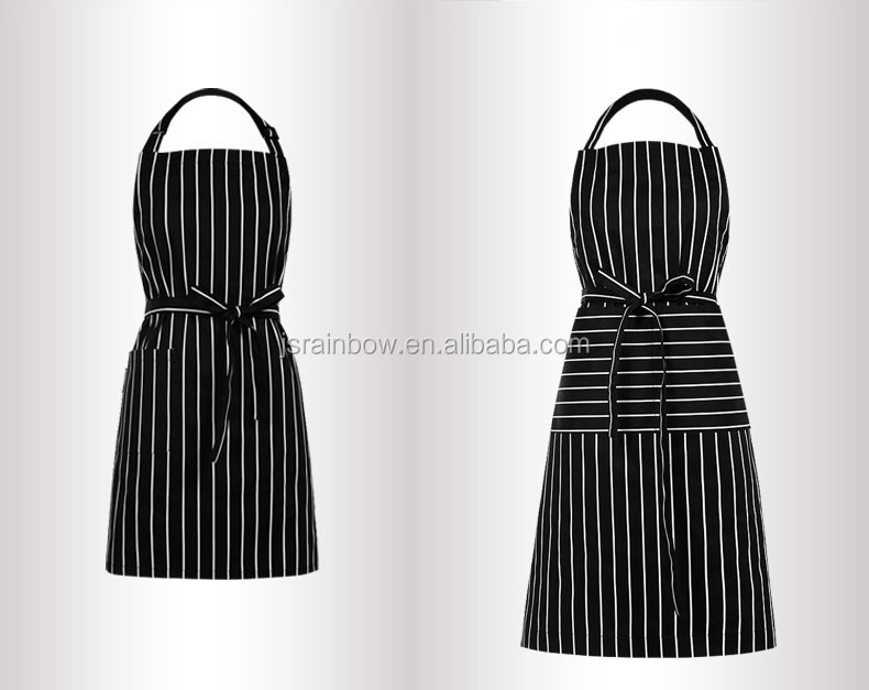 High Quality OEM Cheap Wholesale Washable Breathable Comfort Cotton Chef Waist Aprons For Adult C004