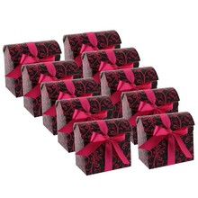 Fancy gift box with ribbon closure custom paper gift box