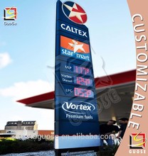 Caltex gas petrol station pylon sign board manufacturer in China