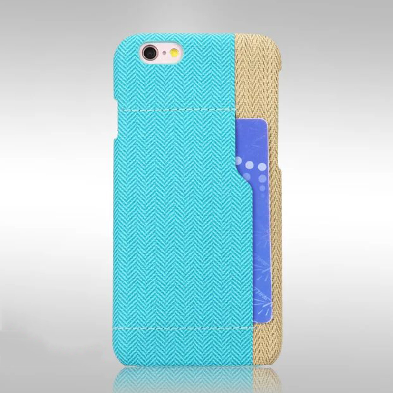 back card slot dual color pu pc combo case for iphone 7