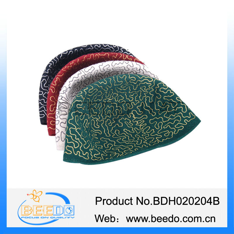 Best selling islam embroidery cap/hat