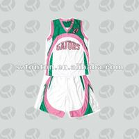 Custom made girl's basketball jersey with short