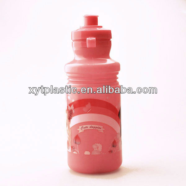 Food grade kids Sport Easy Squeeze Bottles 17oz Pink color