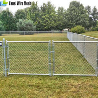 baseball fields used PVC coated chain link/ hook fence hot sale