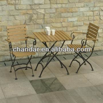 outdoor garden wrought iron table and chair