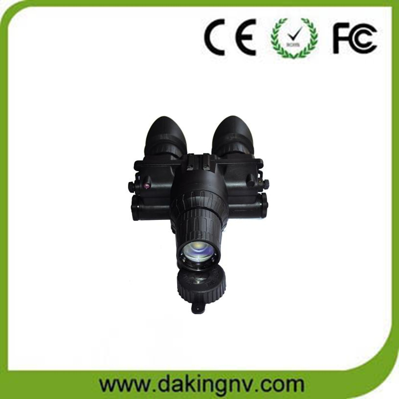 Auto brightness control night vision goggles with single tube