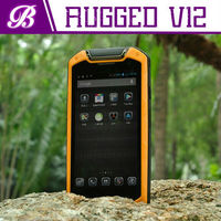 4.5 inch V12 RAM 2G ROM 8G android 4.2 Quad core MTK6589T waterproof rugged low price china mobile phone