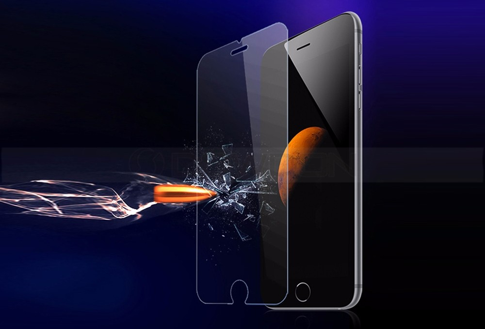9H Hardness Sensitive Touch Mobile Screen Tempered Glass for iPhone 7 Plus