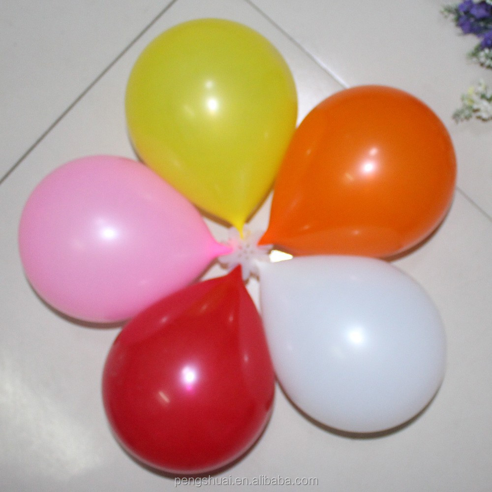 "multicolor latex balloon standard color 10"" 2.2g"