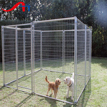 5'x10'x6' big dog runs clamp connector dog kennels solid roof dog cages