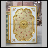 Perfect White w/ Blue Cloud Pattern insert types of false ceiling boards