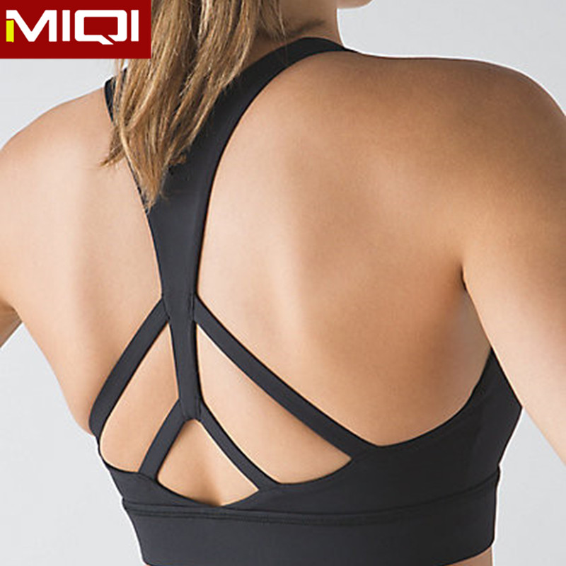 Hot selling custom fitness wear and sexy design sexy lady's sport bra for women