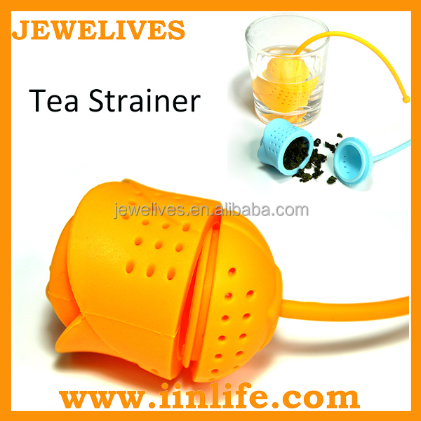 New products on china market BPA free rubber silicone tea strainer