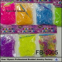 dropship wholesale hot sale colorful elastic diy loom band