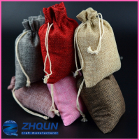 Multicolor drawstring bag linen pouch for jewelry