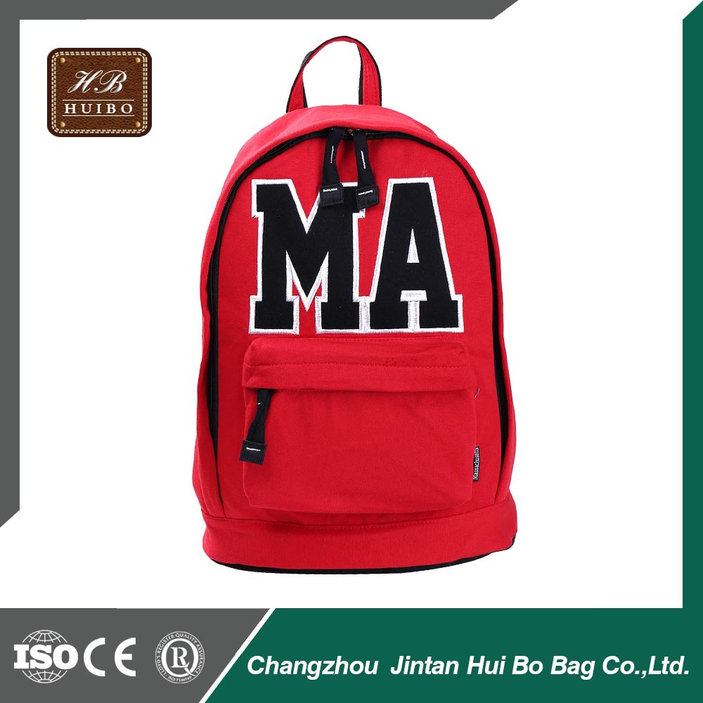 Cotton Material Back Packs School Bags for Teenagers OEM