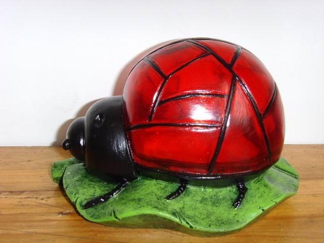 18.5X16X11cm Solar Ladybug Lamp