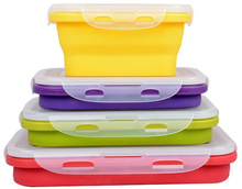 Food Storage Containers Collapsible/Foldable silicone lunch box