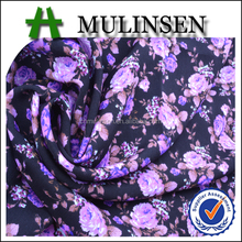 Mulinsen Textile Woven 50D Polyester Flower Printed Wool Peach Fabric Less Than 1.00 Fabrics