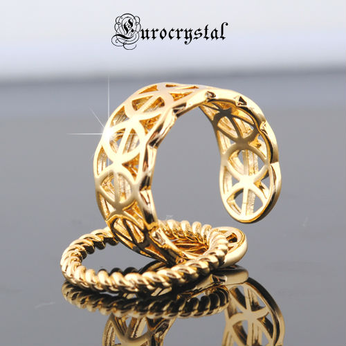 REAL ! 16k GOLD PLATED RING ( buy 1 get 1 free) /girl ~ women/ AUCTION CHANCE/UNIQUE DESIGN