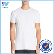 Yihao 2015 new fashion 100% cotton wholesale bulk blank plain white t shirts for men