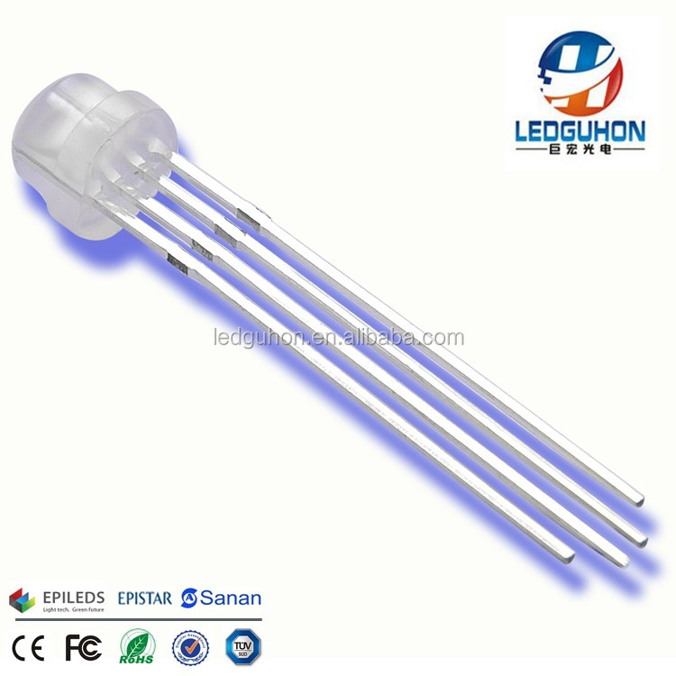 4pins Common Anode Straw hat 5mm dip rgb led diode for led decorations light