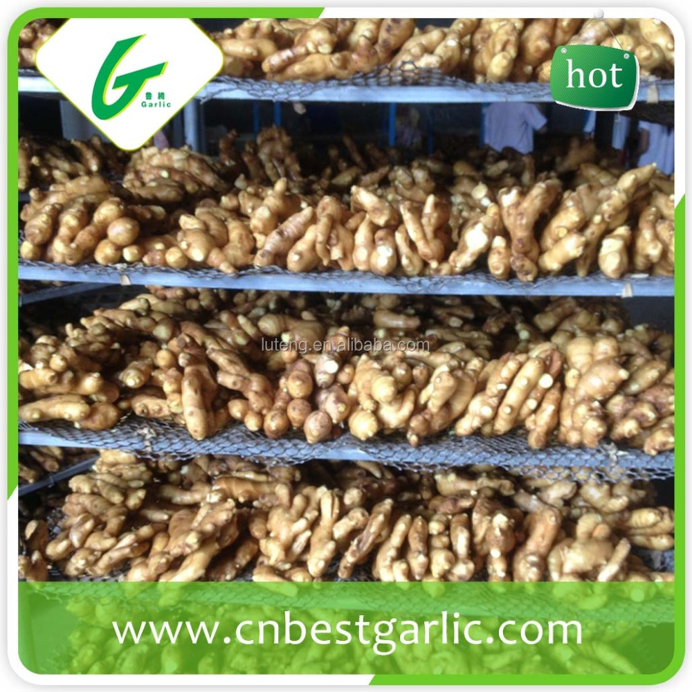Dried organic ginger flakes